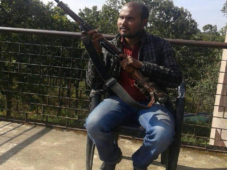 गिरफ्तार किया गया नक्सली अनिल यादव।