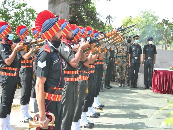 सैन्य सम्मान के साथ हुआ अंतिम संस्कार।