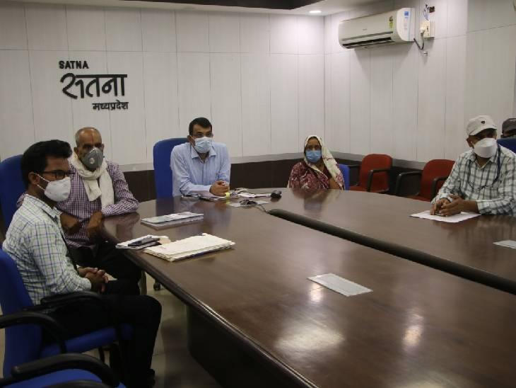 सीएम की वीडियो कॉन्फ्रेंसिंग में शामिल हितग्राही के परिजन व महिला एवं बाल विकास की टीम। - Dainik Bhaskar
