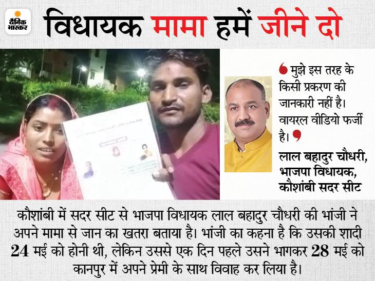 ग्रेजुएट भांजी की सरकारी टीचर से तय थी शादी; एक दिन पहले 8वीं पास के साथ भागकर की लव- मैरिज, बोली- मामा और भाई मरवा देंगे|प्रयागराज,Prayagraj - Dainik Bhaskar
