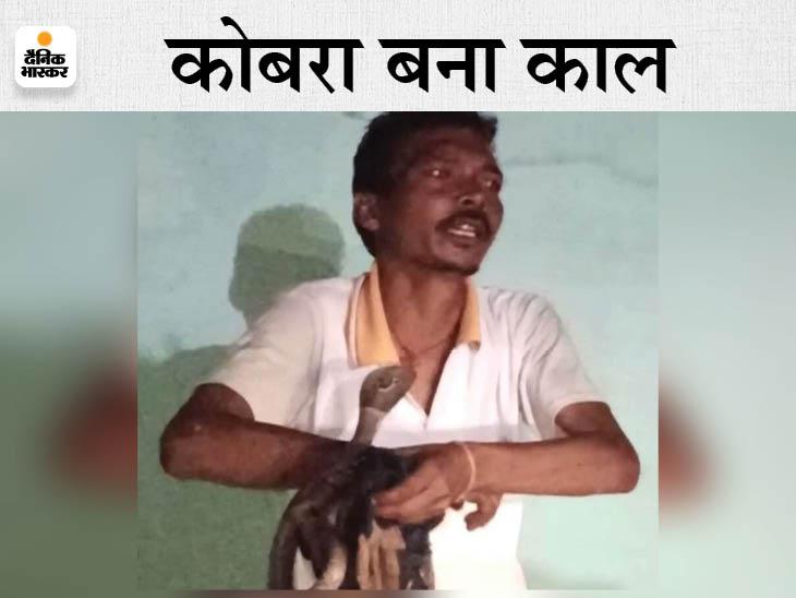 स्नैक कैचर की मौत, जहरीले सांप को कभी शिवलिंग पर तो कभी अपने गले में डाल रहा था; काटने के बाद 3 घंटे तक बेसुध रहा, फिर अस्पताल में तोड़ा दम भिलाई,Bhilai - Dainik Bhaskar