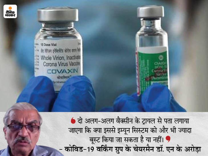 दोनों डोज में अलग टीके का ट्रायल जल्द; टेस्टिंग में कोवीशील्ड, कोवैक्सिन और स्पूतनिक समेत 8 वैक्सीन शामिल होंगी|देश,National - Dainik Bhaskar