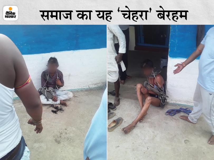 जबलपुर में प्रेमी और उसके दोस्त के बाल काटे, थूक चटवाया; जूतों की माला पहनाई और पीटते हुए पूरे गांव में घुमाया जबलपुर,Jabalpur - Dainik Bhaskar