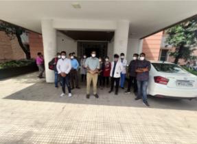 जीएमसी भोपाल में हड़ताल पर गए जूनियर डॉक्टर - Dainik Bhaskar