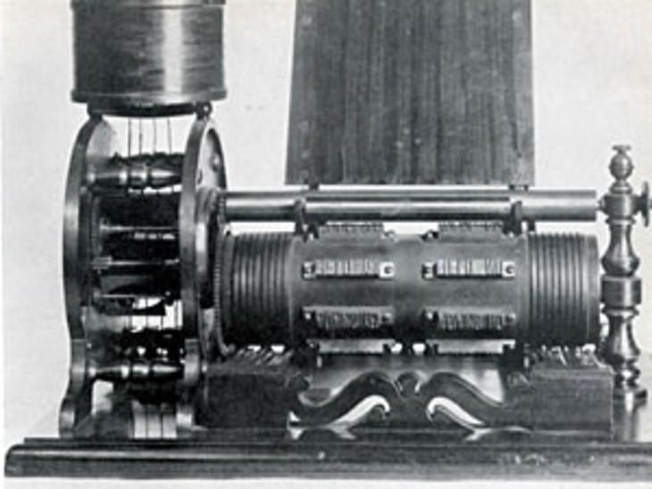 एडिसन का बनाया इलेक्ट्रिक वोट रिकॉर्डर।