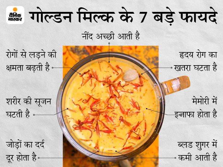 रोगों से लड़ने की क्षमता बढ़ाने के साथ नींद की समस्या और दर्द को दूर करता है हल्दी वाला दूध, यह कैंसर से भी बचाता है लाइफ & साइंस,Happy Life - Dainik Bhaskar