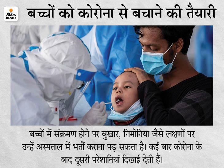 सरकार ने कहा- बच्चों में कोरोना का संक्रमण गंभीर नहीं होता, लेकिन वायरस अपना व्यवहार बदल ले तो इंफेक्शन बढ़ सकता है|देश,National - Dainik Bhaskar