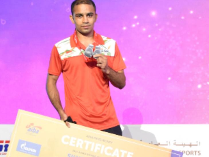 अमित पंघल ने टूर्नामेंट में तीसरा मेडल जीता। इससे पहले 2019 और 2017 में मेडल जीत चुके हैं।