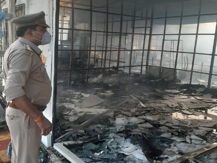 आग इतनी भयानक थी कि एक किलोमीटर दूर से लपटें दिख रही थी