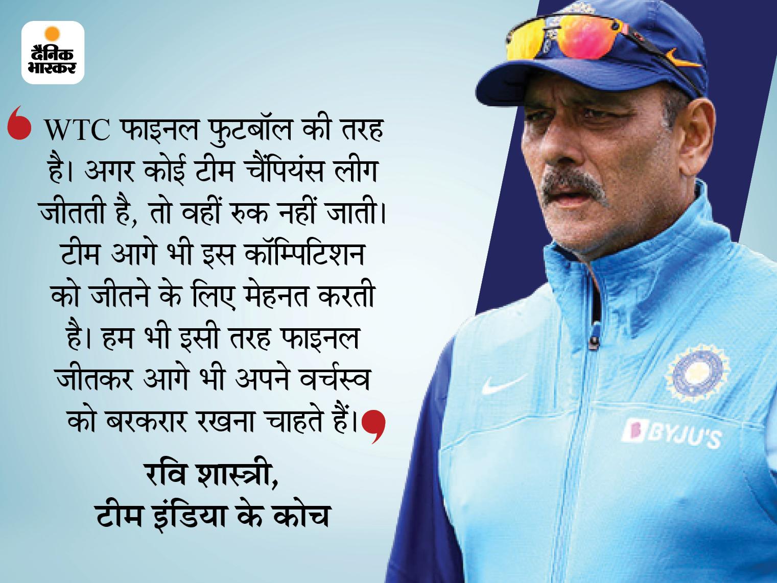 टीम इंडिया के कोच रवि शास्त्री ने कहा- 3 मैचों के फाइनल से विजेता चुना जाए; पूर्व कप्तान कपिल देव ने भी उठाया था मुद्दा|क्रिकेट,Cricket - Dainik Bhaskar