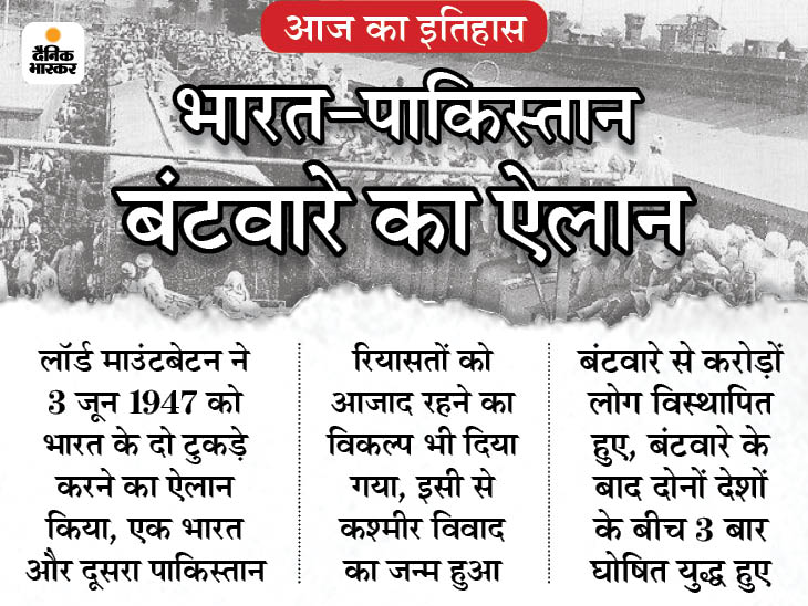 भारत-पाकिस्तान बंटवारे का ऐलान हुआ, इसमें शामिल एक शर्त की वजह से आजादी के साथ मिली कश्मीर समस्या|देश,National - Dainik Bhaskar