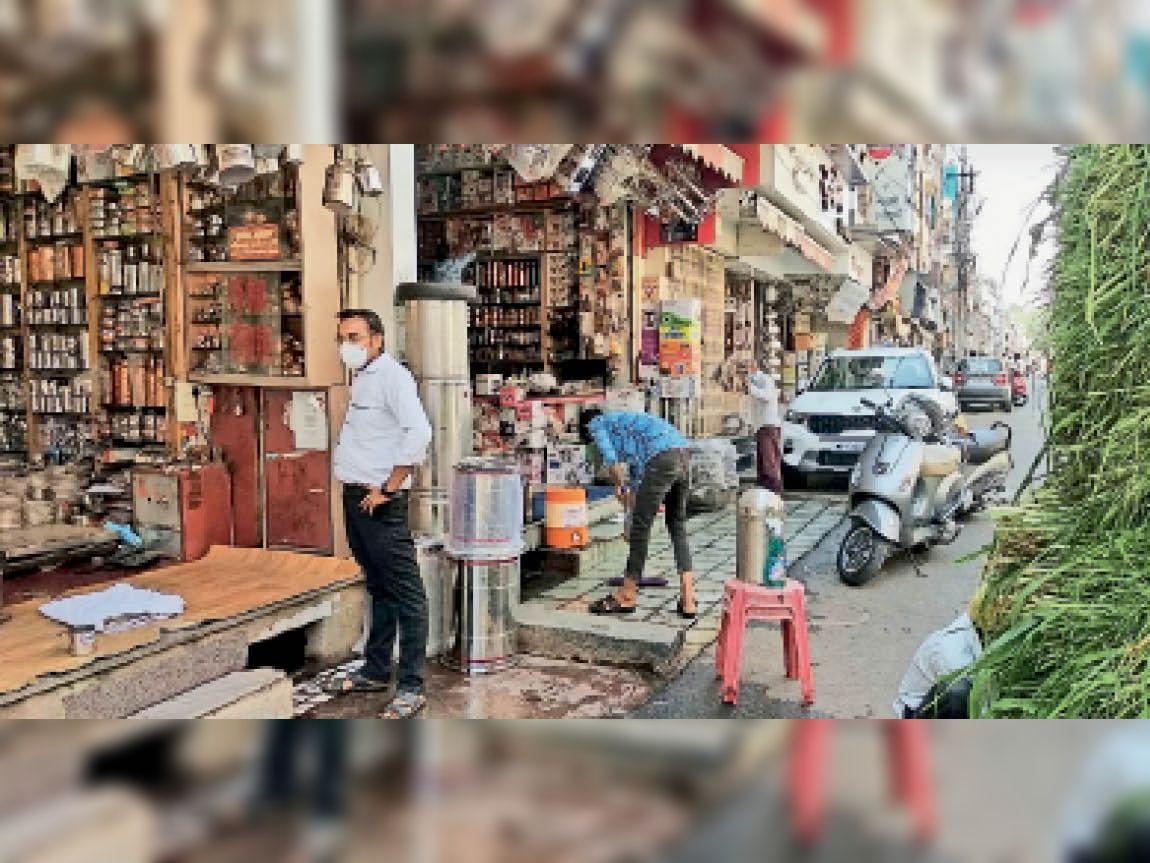 सड़कों पर भीड़ थी लेकिन दुकानों पर नहीं लगी, आज मार्केट का लेफ्ट डे|उज्जैन,Ujjain - Dainik Bhaskar