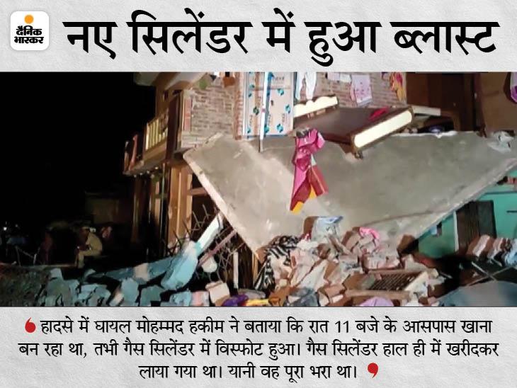 सिलेंडर में ब्लास्ट के बाद ढहे 2 मकान, 4 बच्चों समेत 8 की मौत, 6 गंभीर घायल लखनऊ रेफर|उत्तरप्रदेश,Uttar Pradesh - Dainik Bhaskar