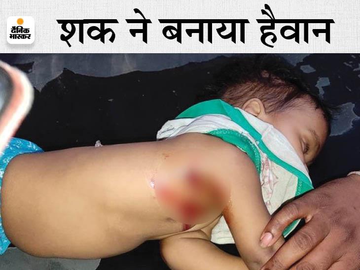पत्नी की गर्दन पर कुल्हाड़ी से वार किया और 80 मीटर तक घसीटता ले गया; महिला की मौके पर मौत, 6 महीने के बच्चे ने भी दम तोड़ा कोटा,Kota - Dainik Bhaskar