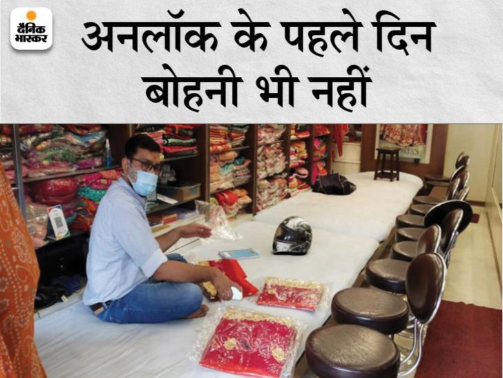 46 दिन बाद 5 घंटे के लिए खुली दुकानें, 2 घंटे सफाई में और 2 घंटे ग्राहकों के इंतजार में बीते; खाली हाथ घर लौटे व्यापारी|जयपुर,Jaipur - Dainik Bhaskar