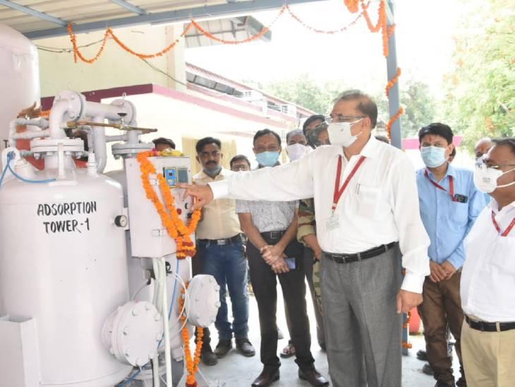 कानपुर के आर्मपुर अस्पताल में लगा नया ऑक्सीजन प्लांट, 150 लीटर प्रति मिनट ऑक्सीजन जनरेट करेगा कानपुर,Kanpur - Dainik Bhaskar