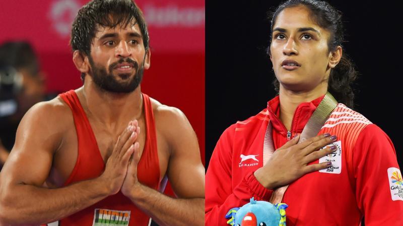 बजरंग पूनिया और विनेश फोगाट से इस बार देश को ओलिंपिक में मेडल की काफी उम्मीद है।