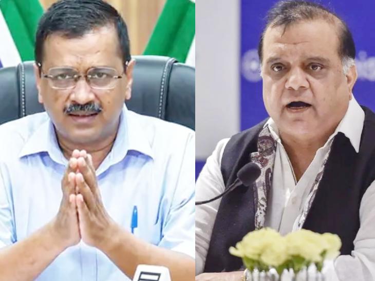 दिल्ली के मुख्यमंत्री केजरीवाल के आदेश पर 19 अप्रैल से प्रदेश में लॉकडाउन लगा हुआ है। IOA प्रेसिडेंट नरिंदर बत्रा (दाएं) ने उन्हें चिट्ठी लिखकर ऑफिस खोलने की इजाजत मांगी है। - Dainik Bhaskar