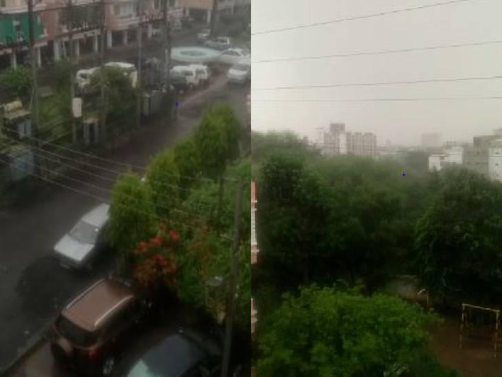 भोपाल में गरज-चमक के साथ बारिश, खंडवा में हल्की बौछारें; अगले 24 घंटे में सभी संभागों में बारिश के आसार|भोपाल,Bhopal - Dainik Bhaskar