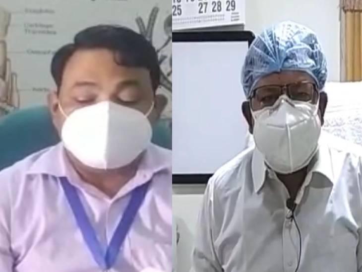 बाए: प्रो. सुरेन्द्र सिंह मौपाची, दाए: डीन डॉ. मनोज इंदुलकर। - Dainik Bhaskar