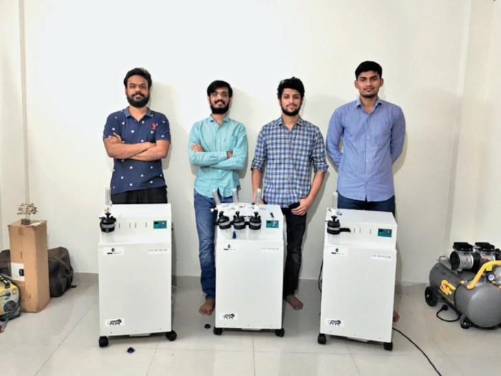 भोपाल के 6 आईआईटीयन्स ने बनाया देश का पहला हाईफ्लो ऑक्सीजन कंसंट्रेटर, एक मिनट में 15 लीटर ऑक्सीजन बनाता है|भोपाल,Bhopal - Dainik Bhaskar