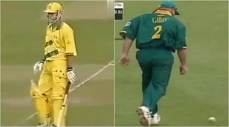 गिब्स ने ऑस्ट्रेलिया के स्टीव वॉ का कैच ड्रॉप किया था।