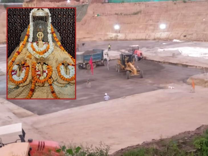 रामलला के भव्य मंदिर के लिए बन रही नींव 5 हजार साल तक टिकाऊ, 1 घन मीटर क्षेत्र में 2400 Kg मटेरियल भरा|लखनऊ,Lucknow - Dainik Bhaskar