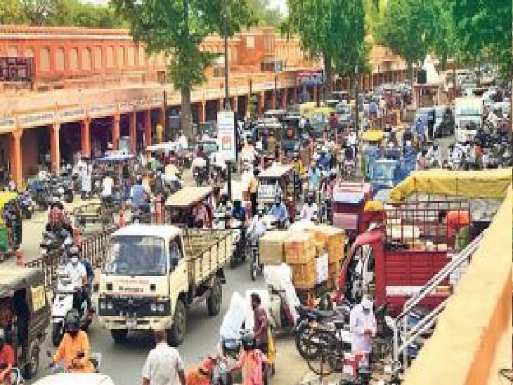 सबसे ज्यादा संक्रमित 5 जिलाें में 10.01% के साथ तीसरे और 1% मौत के साथ दूसरे नंबर पर जयपुर जयपुर,Jaipur - Dainik Bhaskar