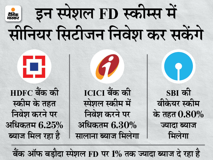 इस महीने खत्म हो रही SBI, HDFC, बैंक ऑफ बड़ौदा और ICICI बैंक की स्पेशल FD स्कीम, इनमें मिल रहा ज्यादा ब्याज बिजनेस,Business - Dainik Bhaskar