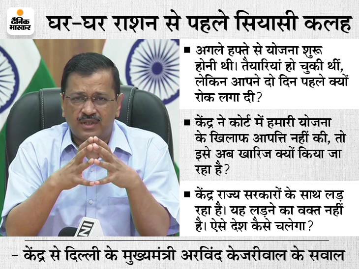 केजरीवाल बोले- आप राशन माफिया के साथ खड़े होंगे तो गरीबों का साथ कौन देगा, पिज्जा की होम डिलीवरी हो रही तो राशन की क्यों नहीं|देश,National - Dainik Bhaskar
