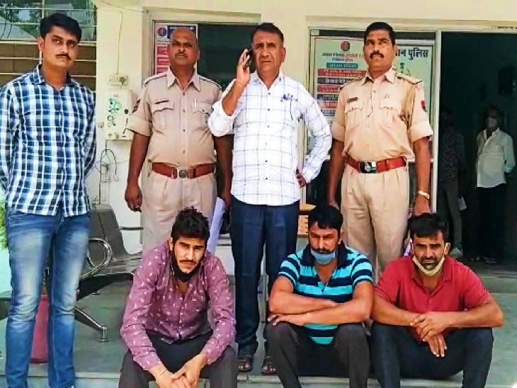 94 रुपए प्रति लीटर के डीजल को टैंकर से 60 रुपए प्रति लीटर की कीमत में करते थे चोरी, तीन आरोपियों को पुलिस ने किया गिरफ्तार|उदयपुर,Udaipur - Dainik Bhaskar