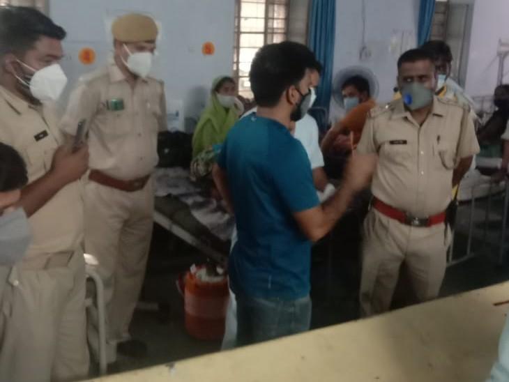 परिजनों ने लापरवाही का लगाया आरोप, अस्पताल प्रशासन की सफाई- मरीज असाघ्य रोग से पीड़ित था|कोटा,Kota - Dainik Bhaskar