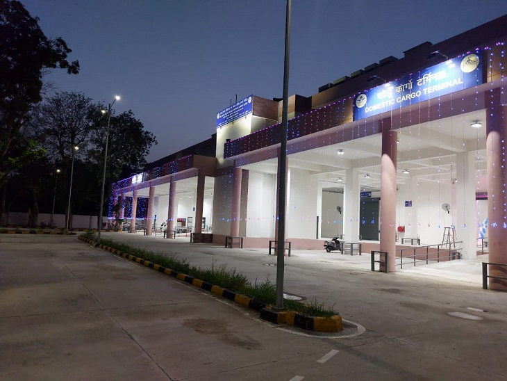 गोवा और लखनऊ जैसे एयरपोर्ट्स को भी पीछे छोड़ा, कुल 13336 मीट्रिक टन कार्गो का परिवहन किया|जयपुर,Jaipur - Dainik Bhaskar