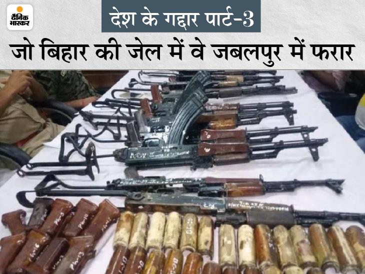 नक्सलियों को सेना की 70 AK-47 राइफलें देने वाले 8 तस्करों को लाए बगैर ही जबलपुर पुलिस ने चालान पेश किया, पूछताछ भी नहीं|जबलपुर,Jabalpur - Dainik Bhaskar