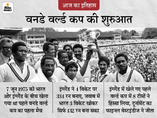 46 साल पहले हुई थी क्रिकेट के वनडे वर्ल्ड कप की शुरुआत, पहले ही मैच में गावस्कर ने 174 गेंद में बनाए थे महज 36 रन|देश,National - Dainik Bhaskar