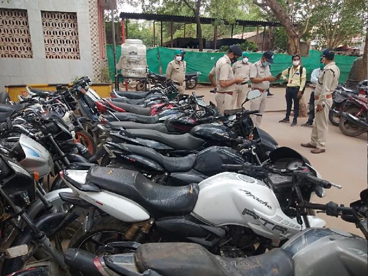 नशे की लत ने नहीं करने दी इंजीनियरिंग पूरी, सड़कों से चोरी करने लगा वाहन, पकड़ा गया तो 24 गाड़ियां बरामद|ग्वालियर,Gwalior - Dainik Bhaskar