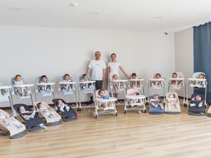 जॉर्जिया में एक कपल के घर सरोगेसी से हुआ 20 बच्चों का जन्म जिनकी देखभाल 16 नैनी करती हैं, पति-पत्नी की ख्वाहिश है कि इस फैमिली में 100 बच्चे हों|लाइफस्टाइल,Lifestyle - Dainik Bhaskar