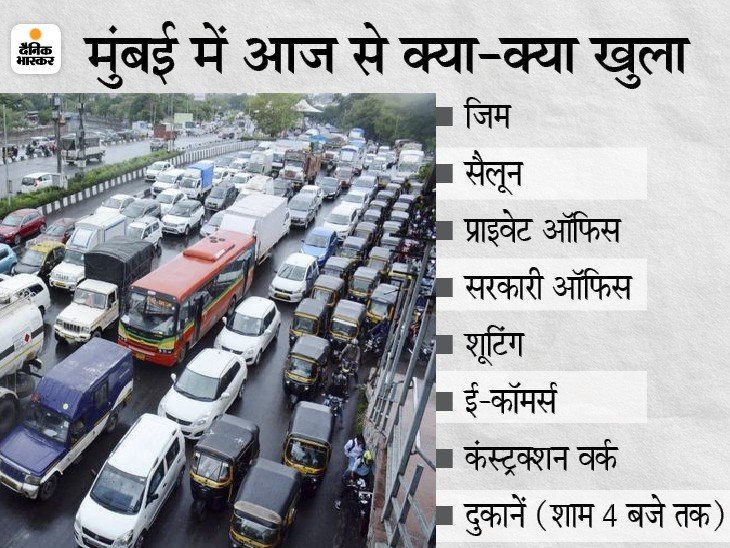 सड़कों पर गाड़ियों की लंबी कतार लगी, बस स्टैंड पर नजर आई भीड़; कोरोना का डर भूले लोग|महाराष्ट्र,Maharashtra - Dainik Bhaskar