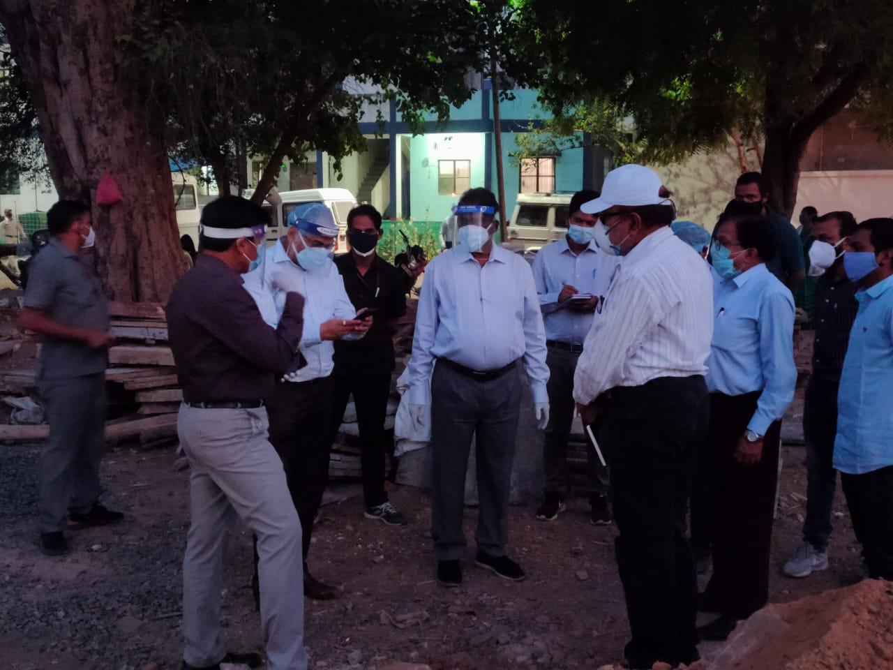 स्वास्थ्य मंत्री ने 27 अप्रैल को होशंगाबाद में निरीक्षण किया था।