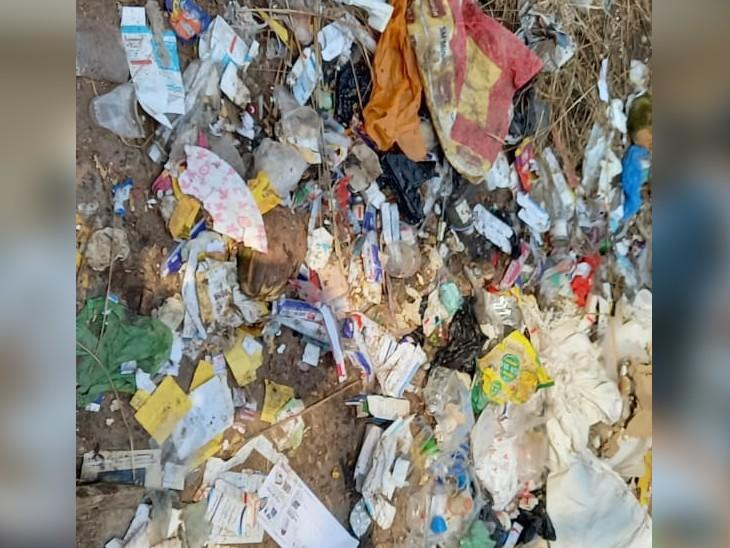 खुले में मेडिकल वेस्ट फेंक रहे हैं प्राइवेट अस्पताल, शहर में बढ़ रहा प्रदूषण, नगर निगम की चेतावनी के बाद भी नहीं सुधरे|बिहार,Bihar - Dainik Bhaskar
