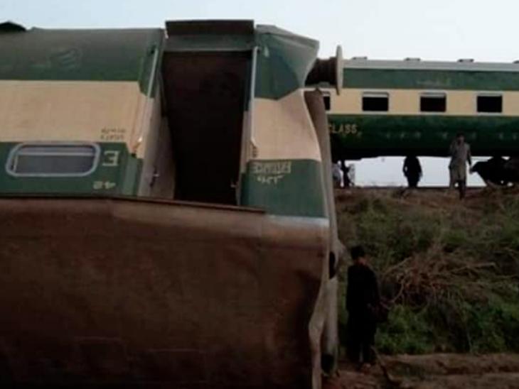 सिंध के डहारकी इलाके में 2 पैसेंजर ट्रेनें टकराईं; 50 की मौत, 50 से ज्यादा लोग घायल विदेश,International - Dainik Bhaskar