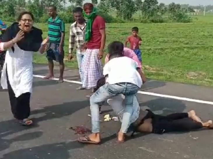 बांका में अमरपुर-शाहकुंड पथ पर भीषण टक्कर; तेज रफ्तार हाइवा ने युवक को कुचल डाला, मौत|बांका,Banka - Dainik Bhaskar