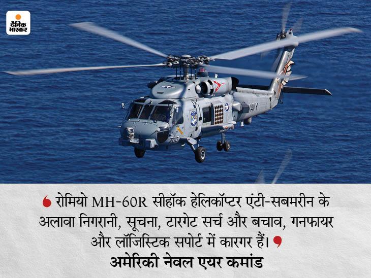 अमेरिका अगले महीने 24 में से 2 सीहॉक हेलिकॉप्टर भारत को देगा, यह समुद्री जहाजों और पनडुब्बियों से निपटने में सबसे कारगर|देश,National - Dainik Bhaskar