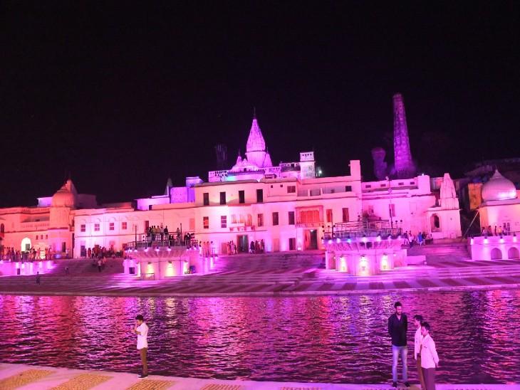 श्रीराम मंदिर का निर्माण होते देख सकेंगे अयोध्या आने वाले श्रद्धालु-पर्यटक, 300 करोड़ से दर्शन मार्गों का चौड़ीकरण का अभियान तेज|लखनऊ,Lucknow - Dainik Bhaskar