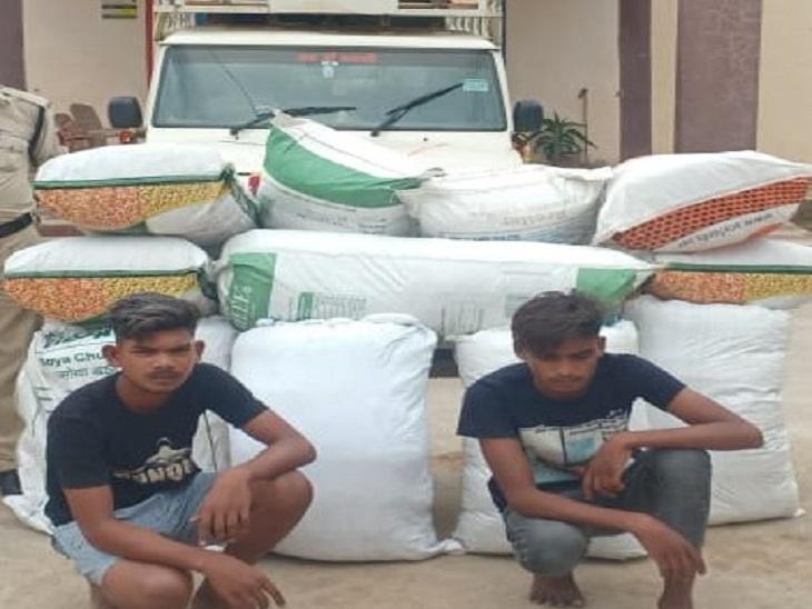 गाड़ी में सब्जियों की बोरी के नीचे छिपाकर ले जा रहे थे, 27 लाख रुपए का गांजा बरामद, 2 आरोपी गिरफ्तार|छत्तीसगढ़,Chhattisgarh - Dainik Bhaskar