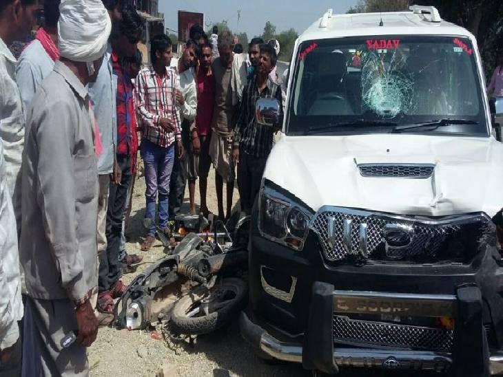 NH-30 पर जीप की टक्कर से बाइक सवार बुजुर्ग की मौत, भेड़ाघाट रोड पर हुए दूसरे हादसे में घायल व्यक्ति ने दम तोड़ा|जबलपुर,Jabalpur - Dainik Bhaskar