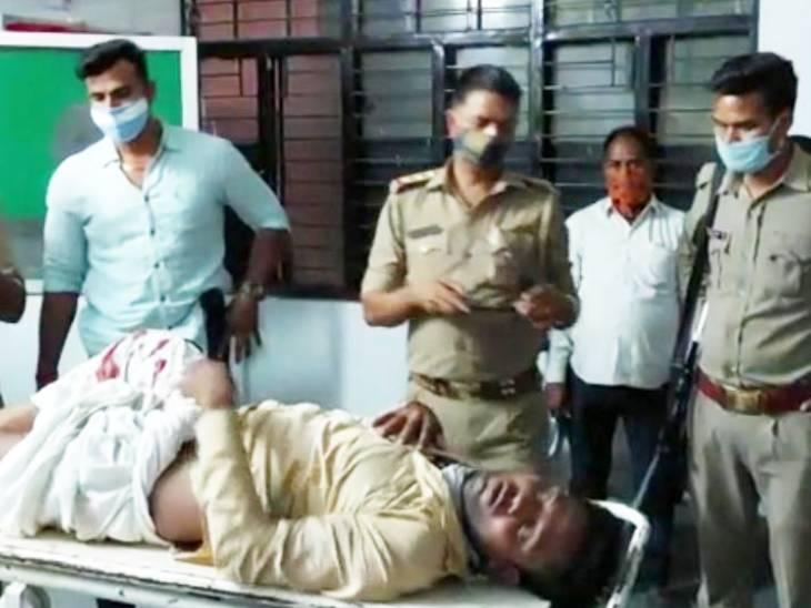 सरेंडर न करने पर पुलिस ने 25 हजार के इनामी के पैर पर गोली मारकर किया घायल; दर्ज हैं 40 मामले प्रयागराज,Prayagraj - Dainik Bhaskar