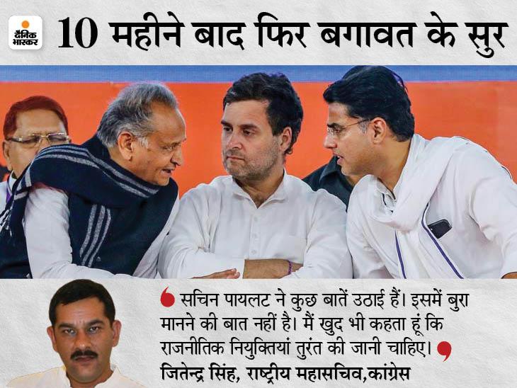 भंवर जितेंद्र सिंह ने कहा- पायलट से किए गए वादे पूरे होने चाहिए; CM बदलने जैसी कोई बात नहीं|अलवर,Alwar - Dainik Bhaskar