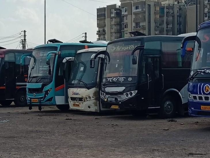आंदोलन की राह पर निजी बस मालिक, टैक्स माफी व डीजल परसब्सिडी की मांग, कोटा संभाग में कल 20 रूट पर नहीं चलेगी 750 बसें|कोटा,Kota - Dainik Bhaskar
