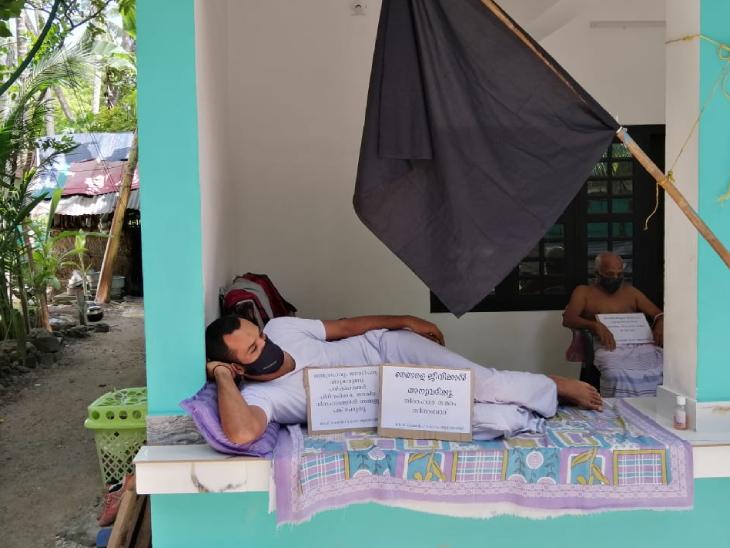 इन दिनों लक्षद्वीप में हर जगह प्रशासन के नए आदेशों का विरोध हो रहा है। लोग अपने घरों से भी विरोध जता रहे हैं।